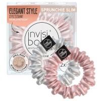 Invisibobble Sprunchie Slim 2pk - Bella Chrome