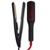 "Allure Flat Iron 1"" + Straightening Brush 2pk J/F"