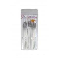 Ez Art Nail Artist's Brush Collection 15pc