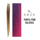 Aqua Tape Extensions Balayage Purple/Pink 10pcs 18""