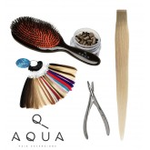Aqua Hair Extensions School Kit