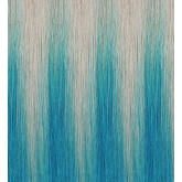 Aqua Tape-In Hair Extensions Silver/Teal Balayage 18""