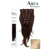 Aqua Clip In Extensions #24 Light Golden Blonde 18""