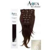 Aqua Clip In Extensions #60 Light Most Platinum Blonde 18""