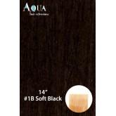 Aqua Hair Extensions #1b Soft Black 10pc