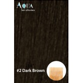 Aqua Hair Extensions #2 Dark Brown 10pc