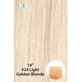 Aqua Hair Extensions #24 Light Golden Blonde 10pc