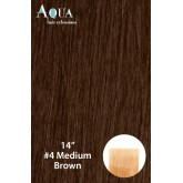 Aqua Hair Extensions #4 Medium Brown 10pc