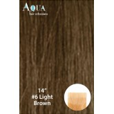 Aqua Hair Extensions #6 Light Brown 10pc