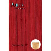 Aqua Tape In Extensions Red 4pcs 18""