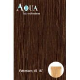 Aqua Hair Extensions #5 Medium Light Brown 10pc