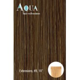 Aqua Tape In Extensions #8 Golden Brown 10pc