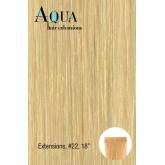 Aqua Hair Extensions #22 Light Blonde 10pc