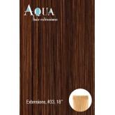 Aqua Hair Extensions #33 Dark Red 10pc