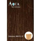 Aqua Tape In Extensions #m4/33 Medium Brown Dark Red 10pc