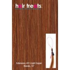 "Hair Treats S31 Light Copper Blonde 18"""