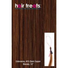 """Hair Treats S33 Dark Copper Red Blonde 18"""""""