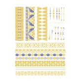 Tassel Metallic Temporary Tattoos