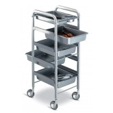 Dannyco Silver Chrome Frame Trolley