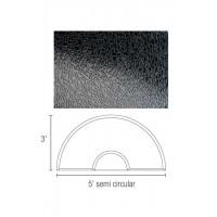 Dannyco Semi-circular Solid Black Salon Floor Mat