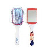 Dannyco Single White Cushion Brush With Mirror
