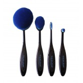Silkline Blue Cosmetic Brush Set 4pk