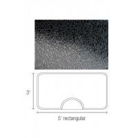 Dannyco Rectangular Salon Floor Mat Solid Black