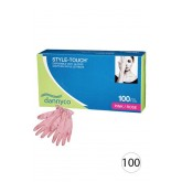 Dannyco Disposable Pink Vinyl Gloves 100pcs