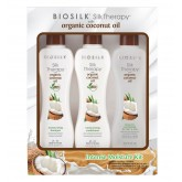 Biosilk Coconut Oil Intense Shine Kit 3pk