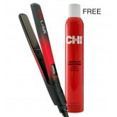"CHI Lava 1"" Hairstyling Iron + CHI Enviro Flex Firm Hold Hairspray 12oz"
