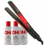 "Spring Stock Up CHI Lava 1"" Flat Iron + CHI Infra Trio 6oz"