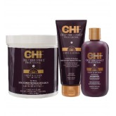 CHI Deep Brilliance Silk Conditioning Relaxer 2lb + Shamp + Protecting Cream 3pk J/A