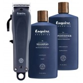 Esquire Grooming Cordless Professional Clipper With Shamp + Cond 8oz