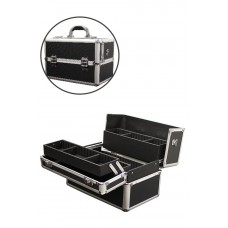 Marianna Makeup Case Black Aluminum Small