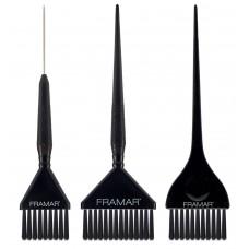 Framar Family Pack Brush Set 3pk - Black