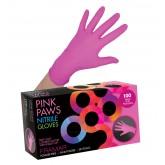 Framar Pink Paws Nitrile Gloves 100pk