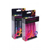Framar Rubberband Sectioning Clips 4pk Pink