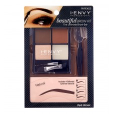 i.Envy Beautiful Brow Kit - Dark Brown
