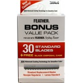 Feather Blades Bonus 30pk + Free Display Case
