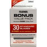 Feather Blades Bonus 30pk + Free Display Case