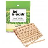 """Spa Essentials Wood Applicators 3.5"""" 100pk"""