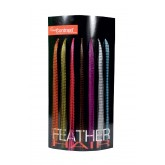 Feather Hair Extensions + Display 28pk