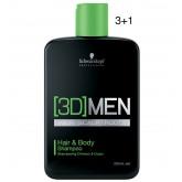 3D Men Hair & Body Shampoo 8.5oz 3+1 N/D