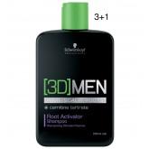 Schwarzkopf 3D Men Root Activating Shampoo 8oz 3+1