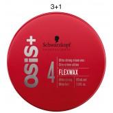 Schwarzkopf OSiS+ Flexwax Ultra Strong Cream Wax 1.7oz 3+1