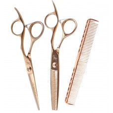 """Tribal Rose Gold Shear Thinner Comb Combo 6"""""""