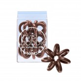 Invisibobble Nano Hair Rings 3pk - Pretzel Brown