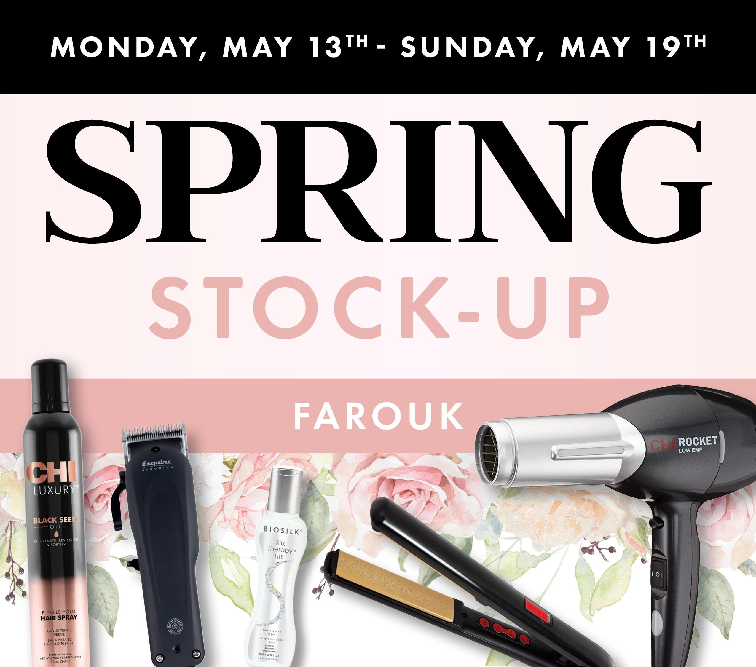 Spring Stock Up Farouk
